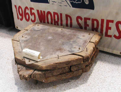 Home plate mount from Met Stadium (Source: LP, courtesy Clyde Doepner)