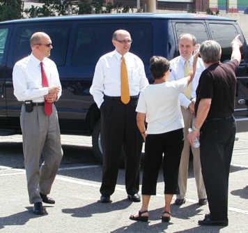 Members tour the Rapipd Park site