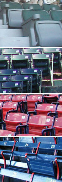 Fenway Park seat colors and styles