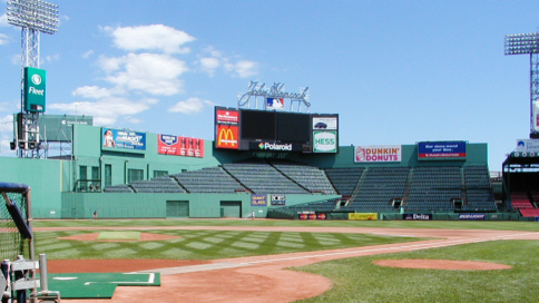 Fenway center field seating