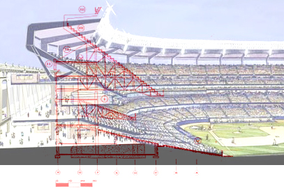 (The comparison of profiles between old and new Yankee Stadiums ... 32f048f8fa9a